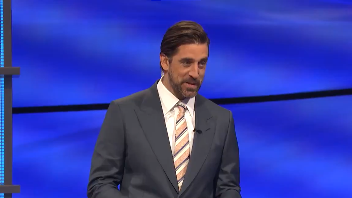 Aaron Rodgers is absolutely nailing it as Jeopardy! guest host (yes, even with the FG zinger)