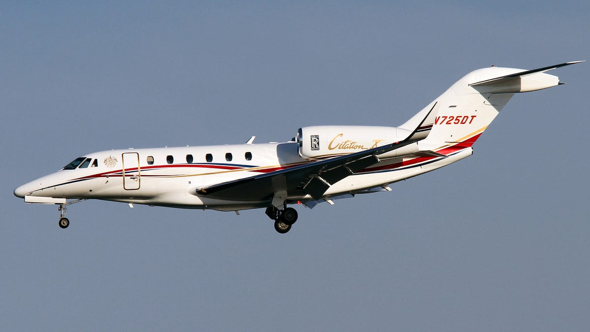 Donald Trump S Other Jet Is This Heavily Badged But Seldom