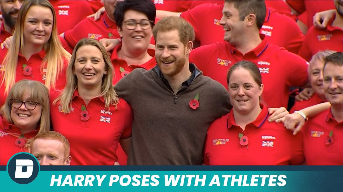 Founder Of The Invictus Games Supports Injured War Veterans Of His Nation's Team
