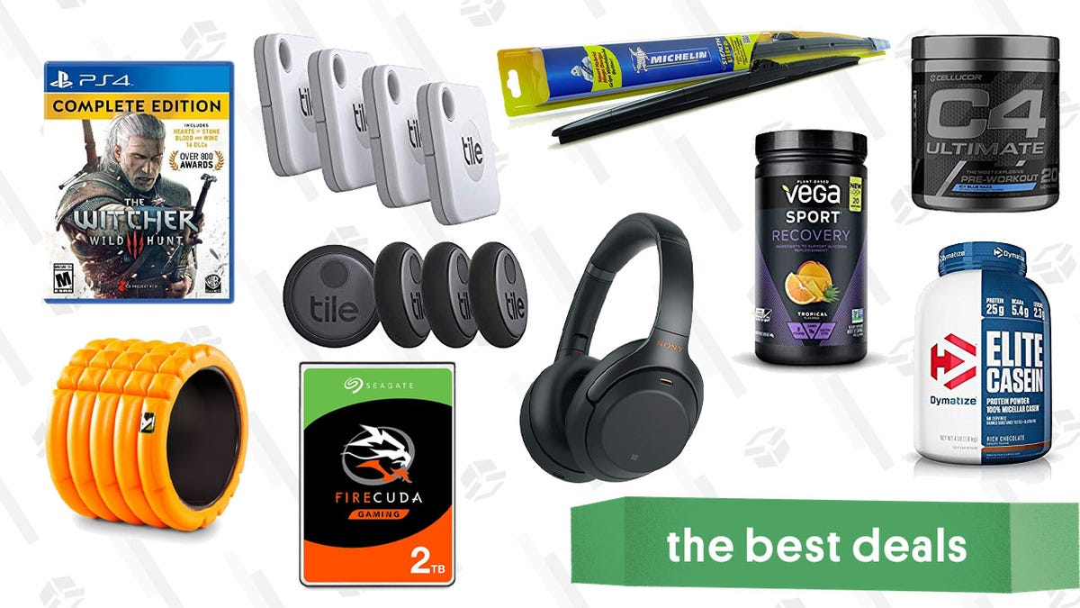 Monday's Best Deals: Sony ANC Headphones, Tile Gold Box, Witcher 3: Wild Hunt, and More