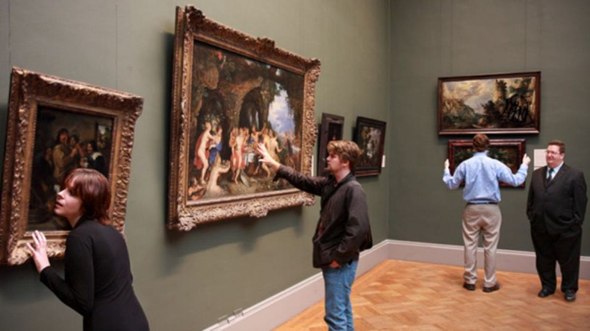 Struggling Museum Now Allowing Patrons To Touch Paintings