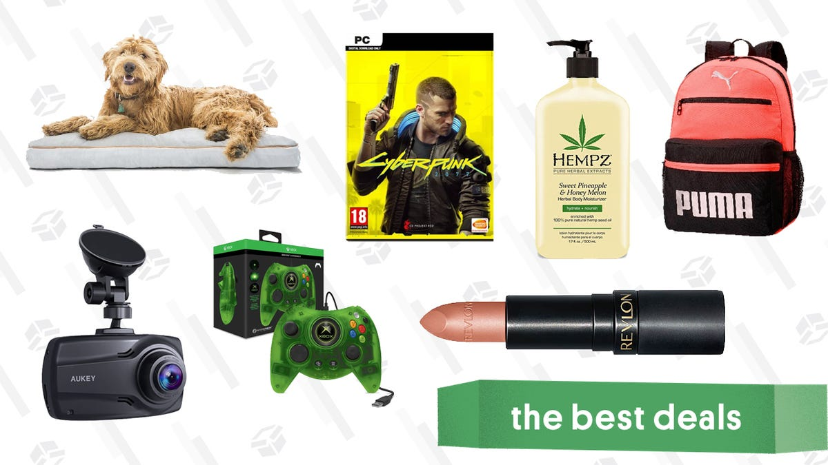 Thursday's Best Deals: Cyberpunk 2077 Pre-Order, Wayfair Pet Furniture, Ulta Hempz Lotion, Puma Outlet Sale, Aukey Dual Dash Cam, and More