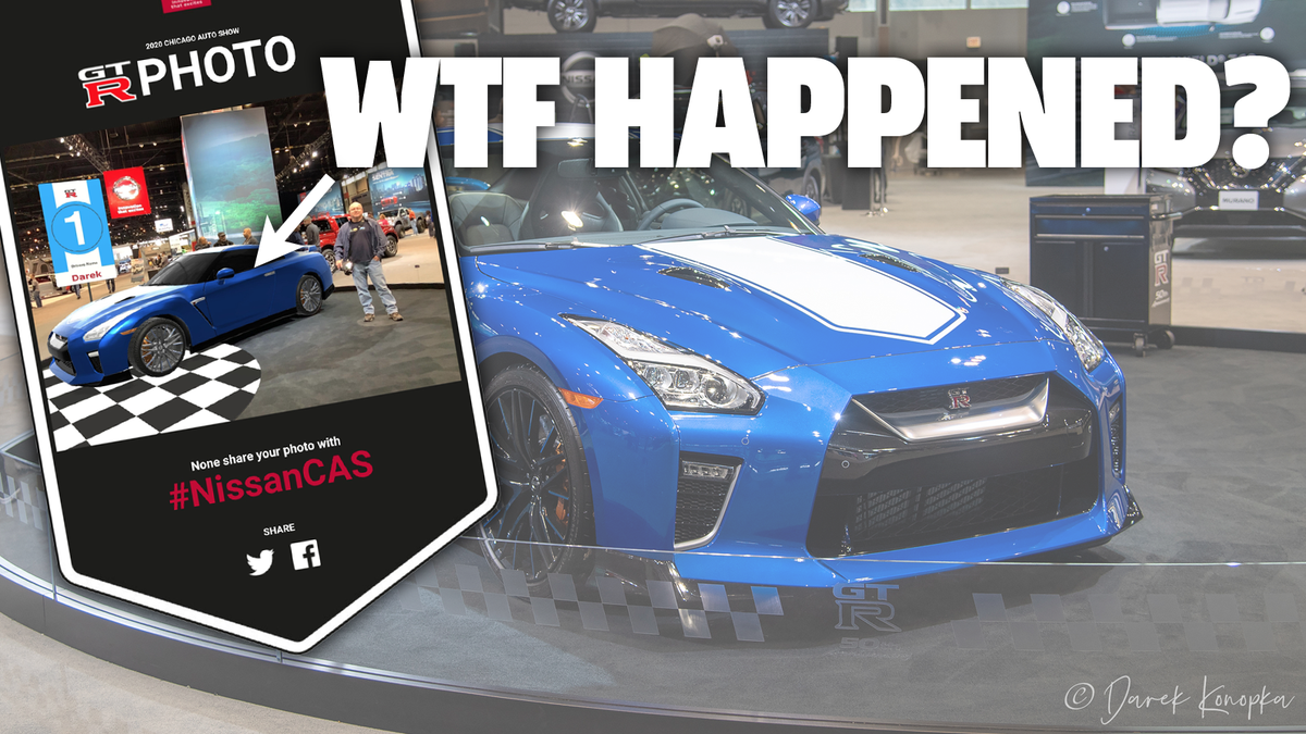 Nissan Somehow Manages To Screw Up Taking Pictures Of People Next To A GT-R