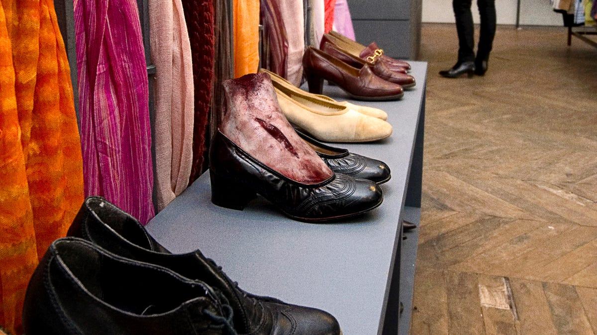 Shoe From Goodwill Still Has Foot In It