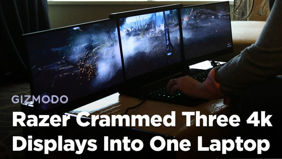Cramming Three 4K Displays Into One Huge Gaming Laptop Is So Insane That Obviously Razer Did It