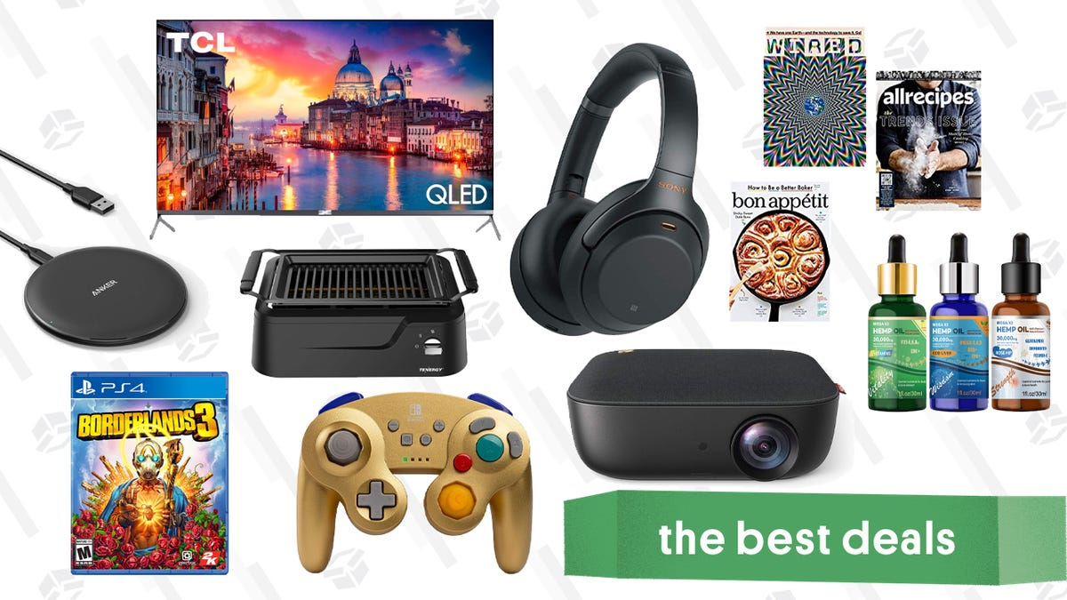 Wednesday's Best Deals: Sony ANC Headphones, $5 Magazine Subscriptions, TCL QLED TV, and More