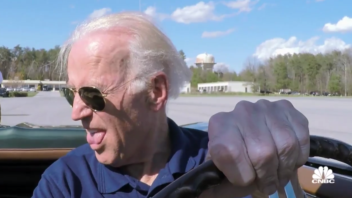 Vice President Joe Biden Gets Permission To Drive A Corvette, Immediately Does A Burnout