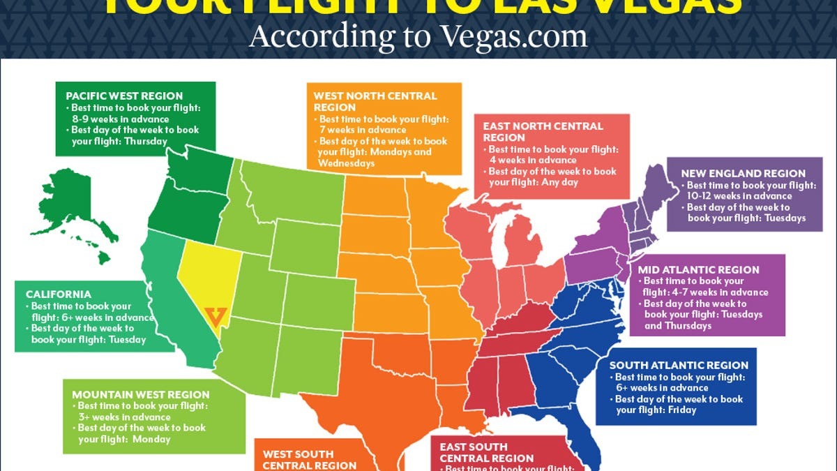 The Best Time To Book A Flight To Vegas Depending On Where