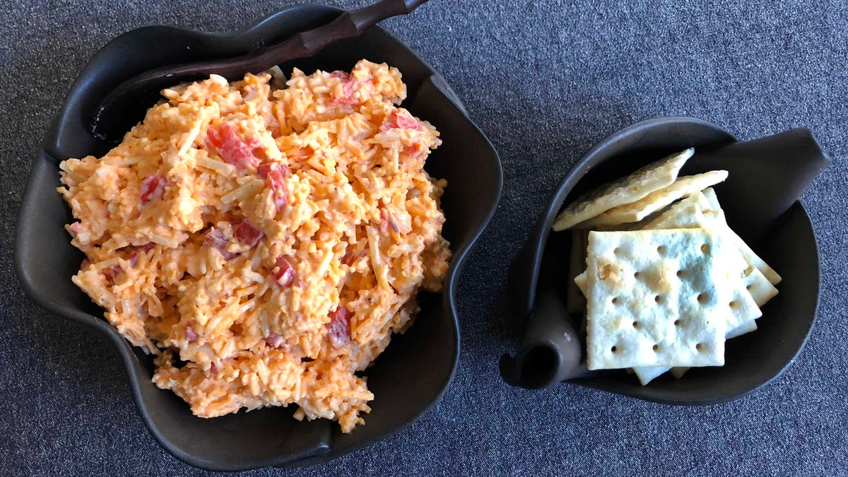 Kimcheese is the spicy Korean take on pimiento cheese your crackers deserve