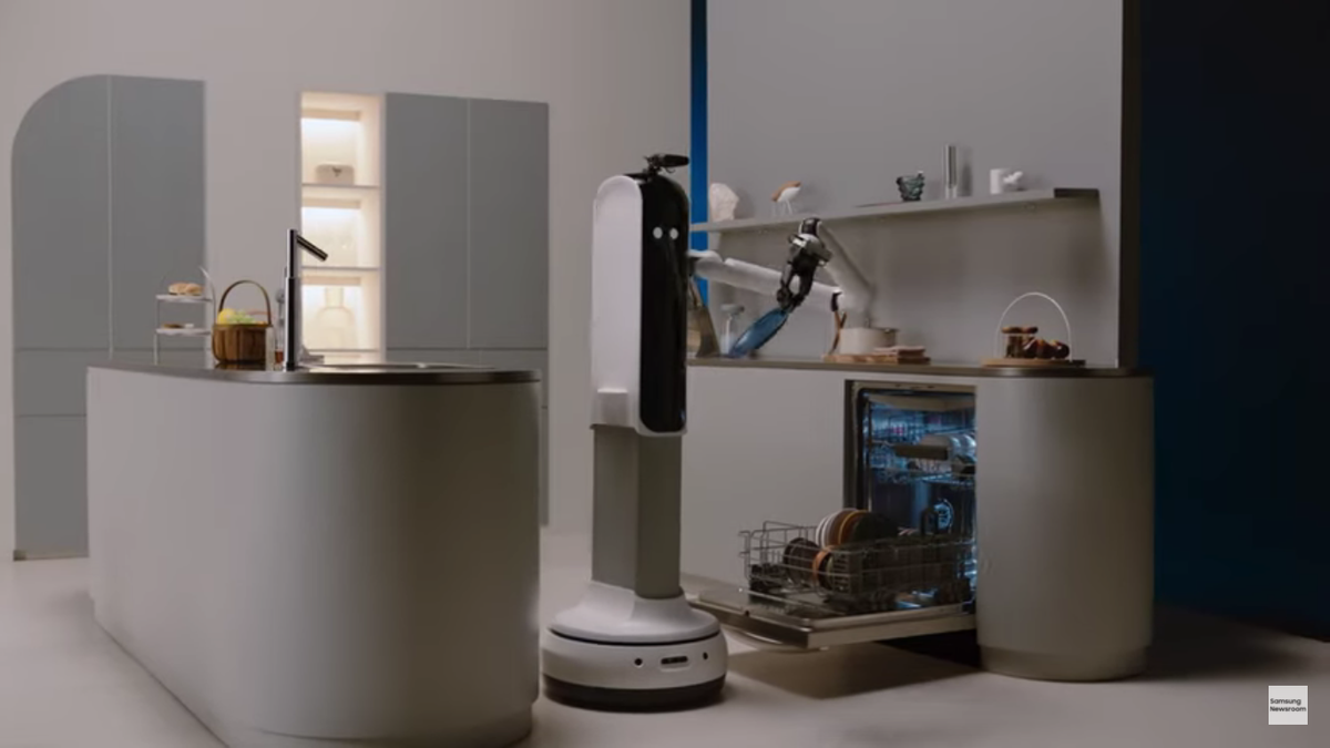 New Samsung robot loads the dishwasher, probably costs more than 10 dishwashers