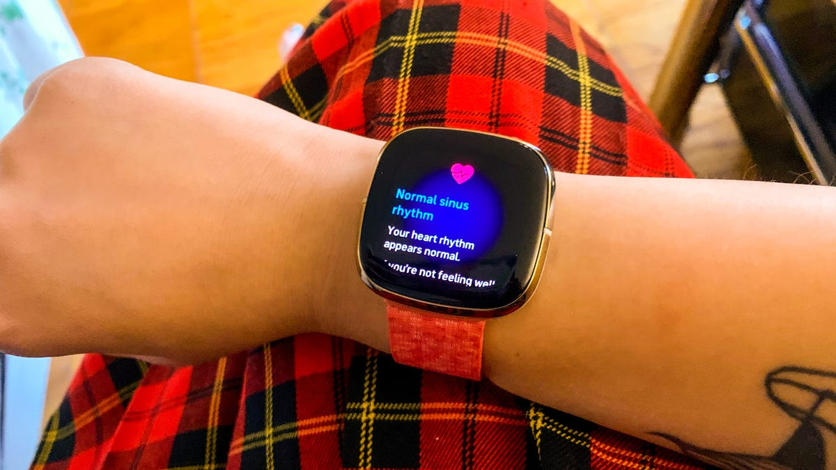 Here's How to Take Your ECG on the Fitbit Sense