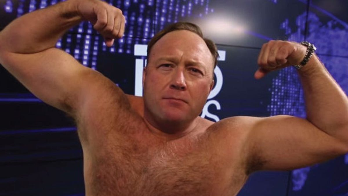 A reminder that Alex Jones just wants to sell you shit, is crazy