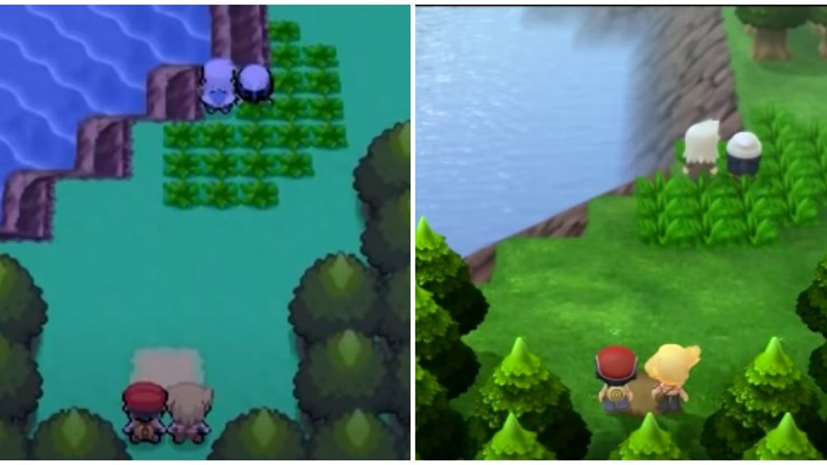 Pokémon Brilliant Diamond and Shining Pearl's Graphics Compared To The Original Games - Kotaku