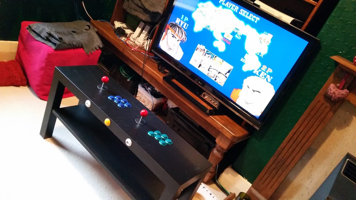 Build This Two Player Arcade Table From A Raspberry Pi And