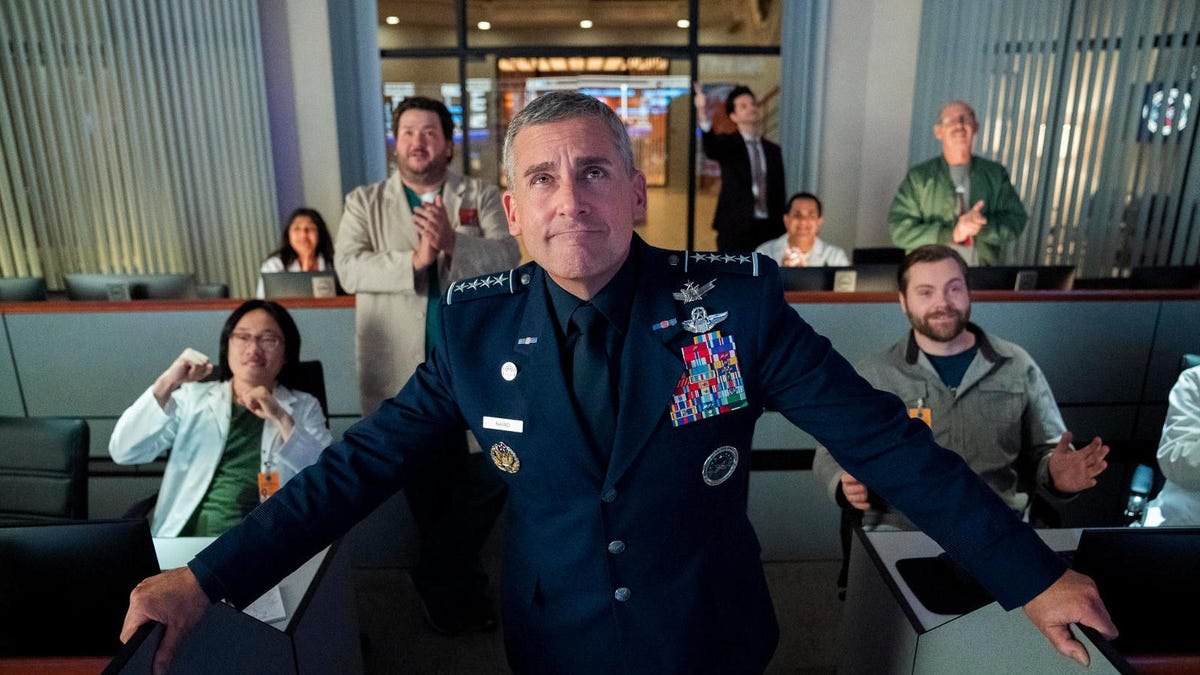 Here's your first look at Steve Carell and Greg Daniels' Space Force
