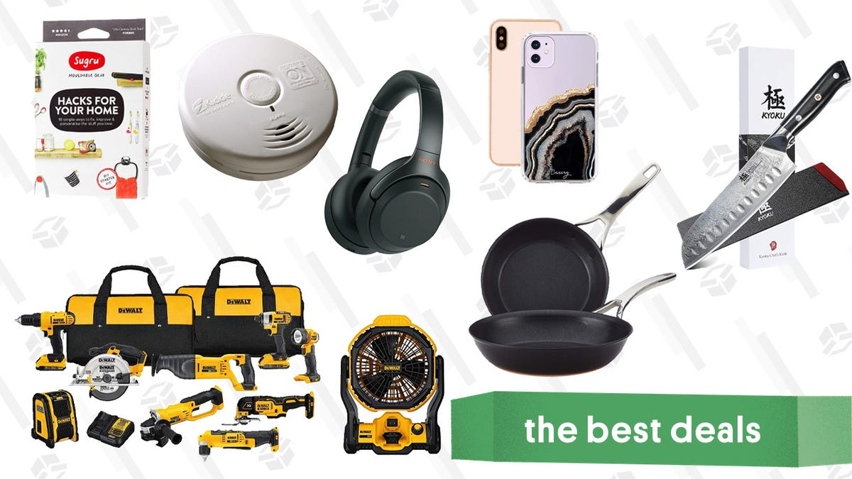Thursday's Best Deals: DEWALT Gold Box, Sugru, Sony Noise-Canceling Headphones, and More