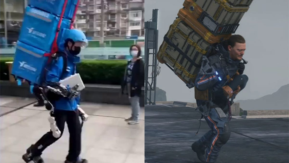 Chinese Exoskeleton Is Basically Death Stranding Cosplay