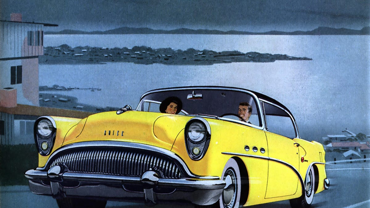 You know the face you made as a kid when you use your fingers to pull down your lower eyelids, exposing the gross pink tissue underneath while simultaneously making a sort of underbite grimace with your mouth? That seems to have been the styling model for the 1954 Buick Century.