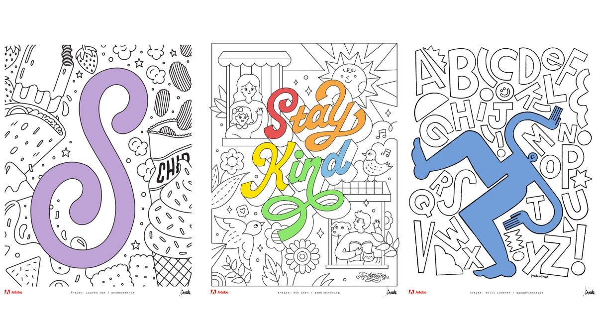 Adobe Released A Free Coloring Book Created By Talented Artists