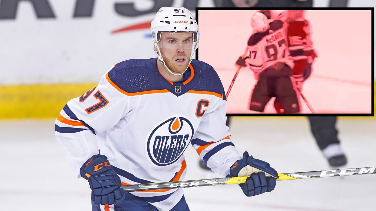 Conor McDavid should have been suspended for this garbage, but of course the NHL didn't