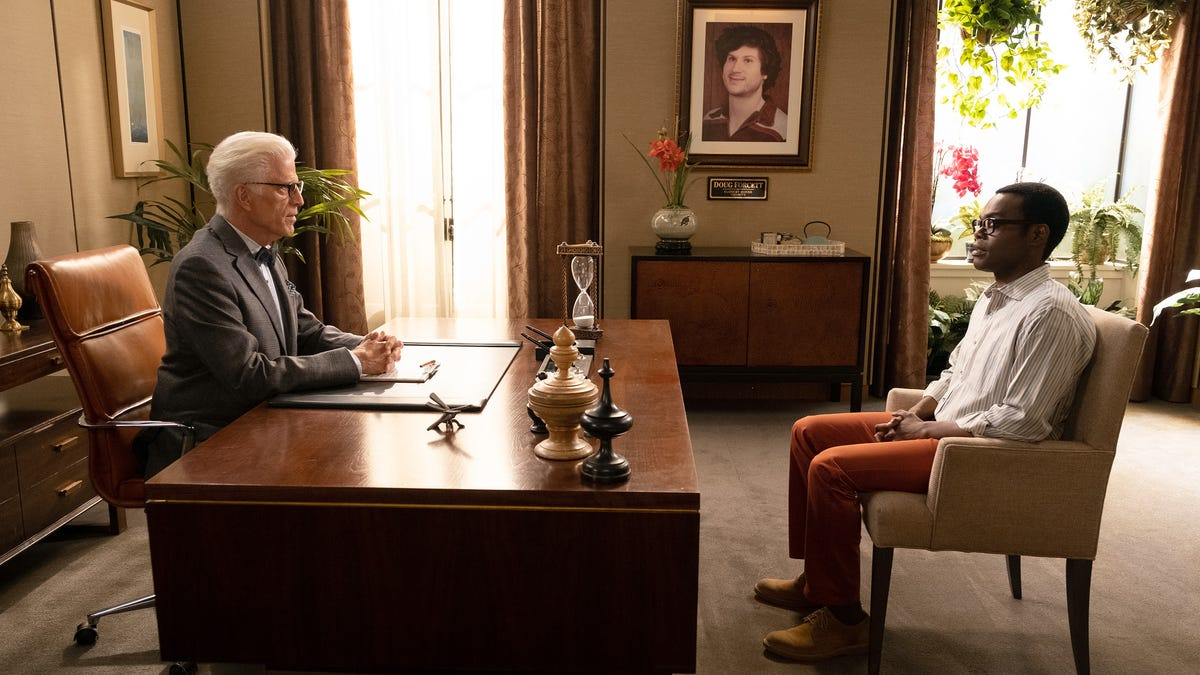 """The Good Place says """"Chidi Anagonye, this is/was/is your life"""""""