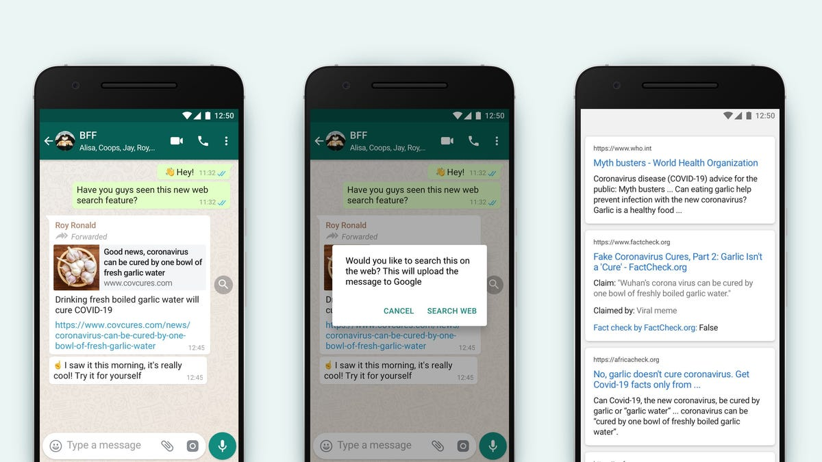 WhatsApp Pilots 'Search the Web' Tool for Fact-Checking Forwarded Messages