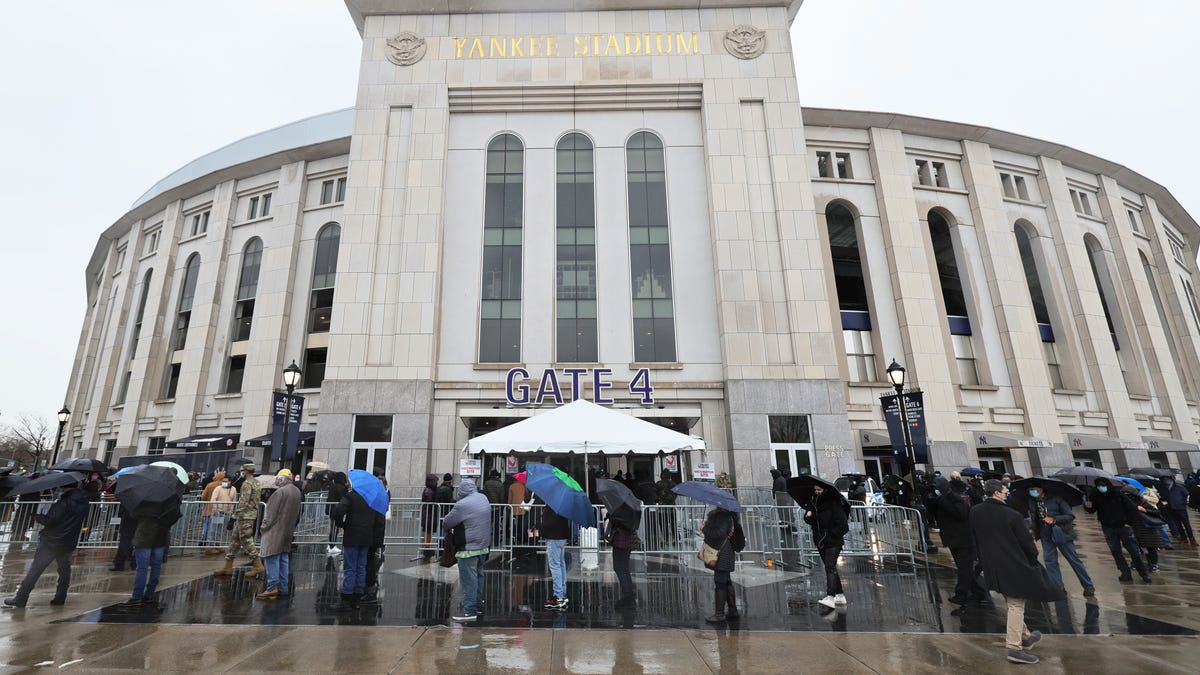 Citi Field opens for 'mass' vaccinations, but with far fewer doses than Yankee Stadium, because NYC