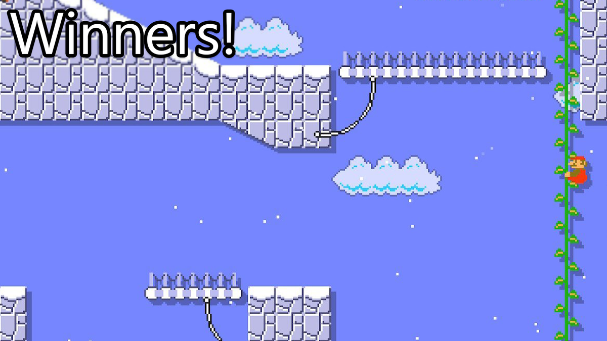 Mario Maker Contest: Going Up, Winners!