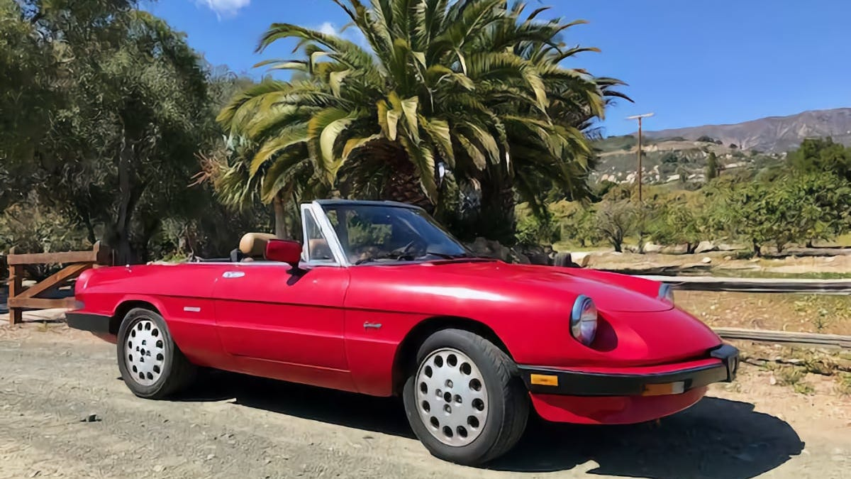 At $4,500, Is This 1989 Alfa Romeo 2000 Spider Graduate A Deal?