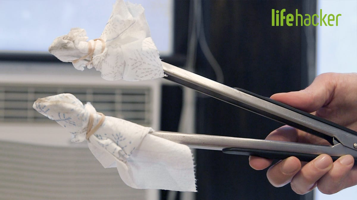 Use Lint Rollers and Tongs to Dust Those Hard to Reach Places