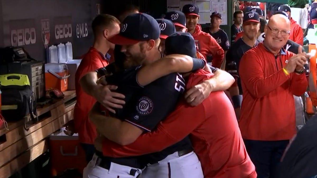 Stephen Strasburg's Teammates Must Keep Hugging Him Until His Icy Heart Melts