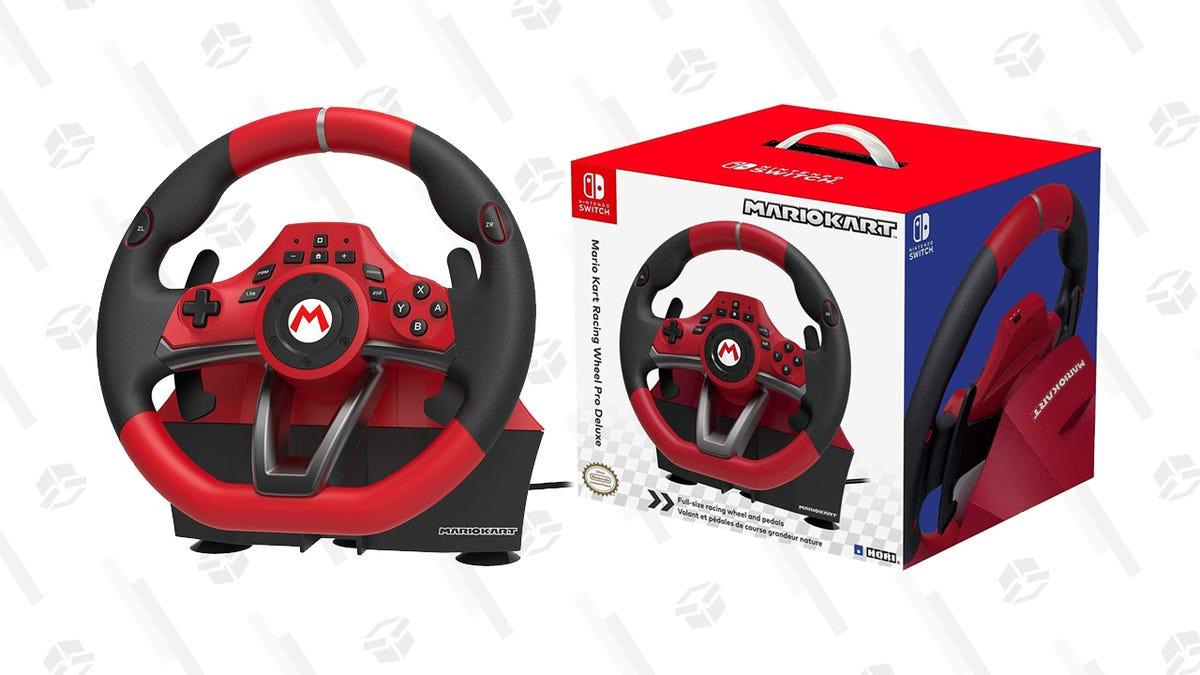 Whip Around Corners in Mario Kart with a HORI Racing Wheel, 17% off