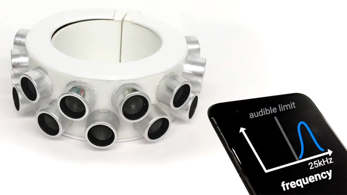 The Studs on This Punk Bracelet Are Actually Microphone-Jamming Ultrasonic Speakers