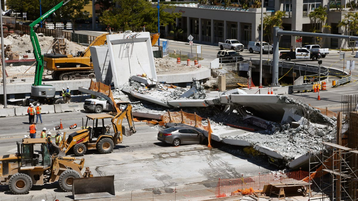 Florida Pedestrian Bridge Collapse The Result Of Bad Math And Ignoring Giant Cracks: Feds