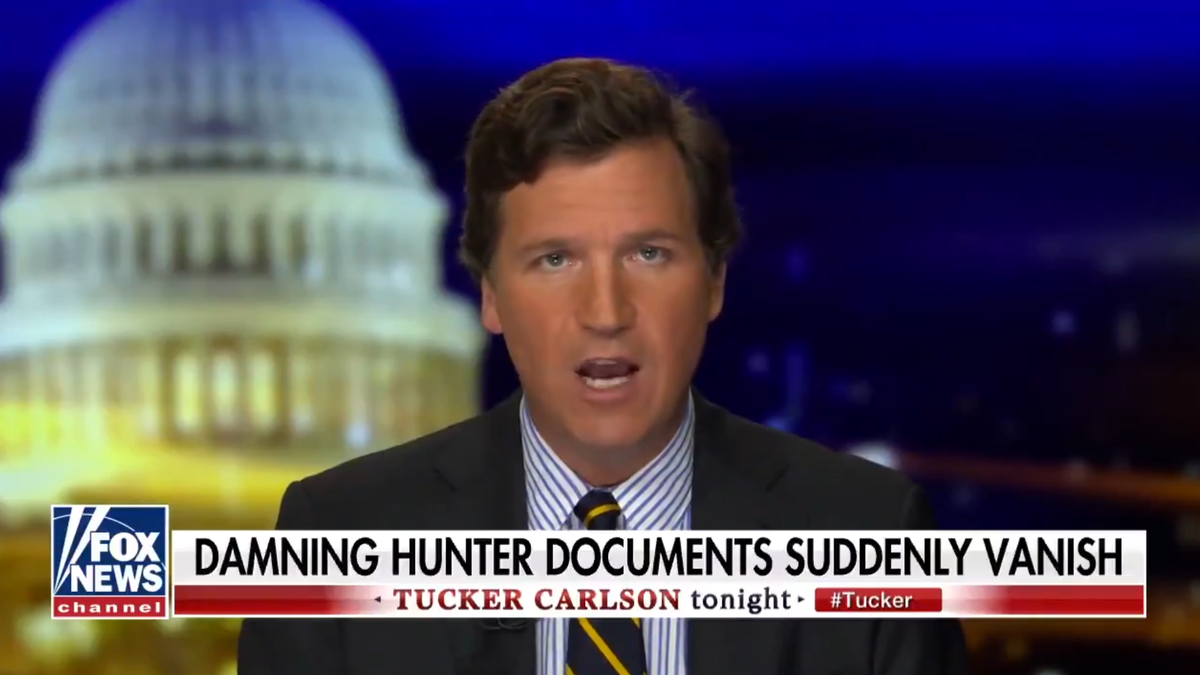 Totally Plausible Theories About Tucker Carlson's Hunter Biden Docs