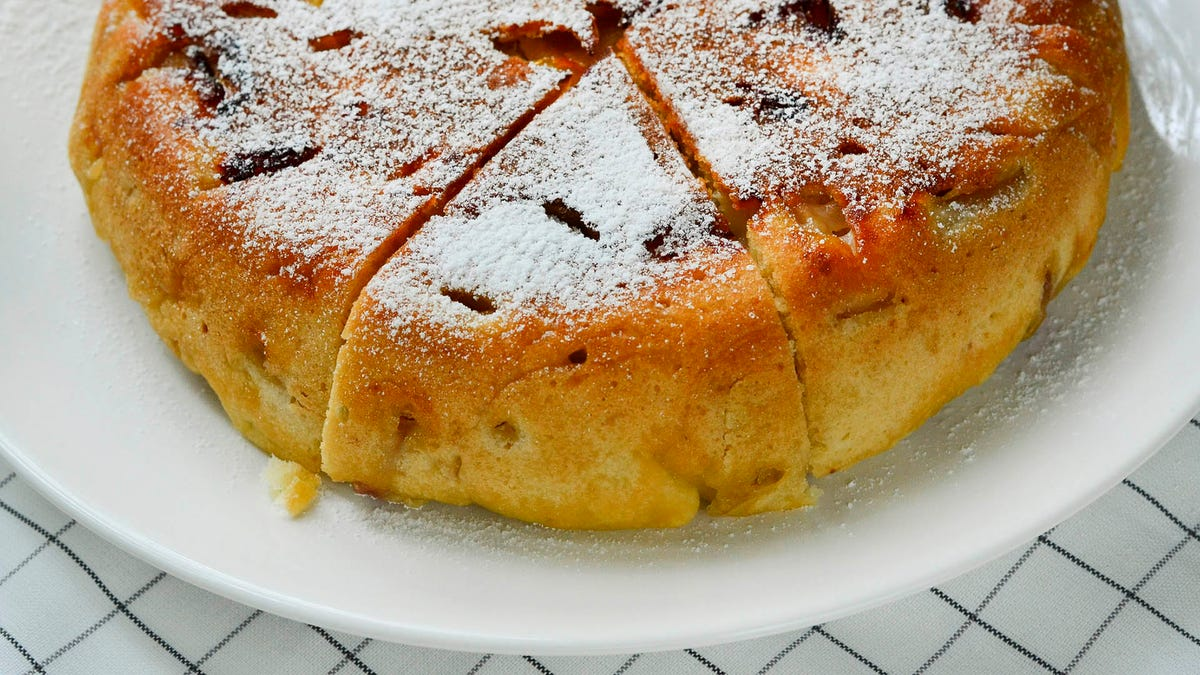 Bake this easy apple cake with chocolate chunks for yourself, just because
