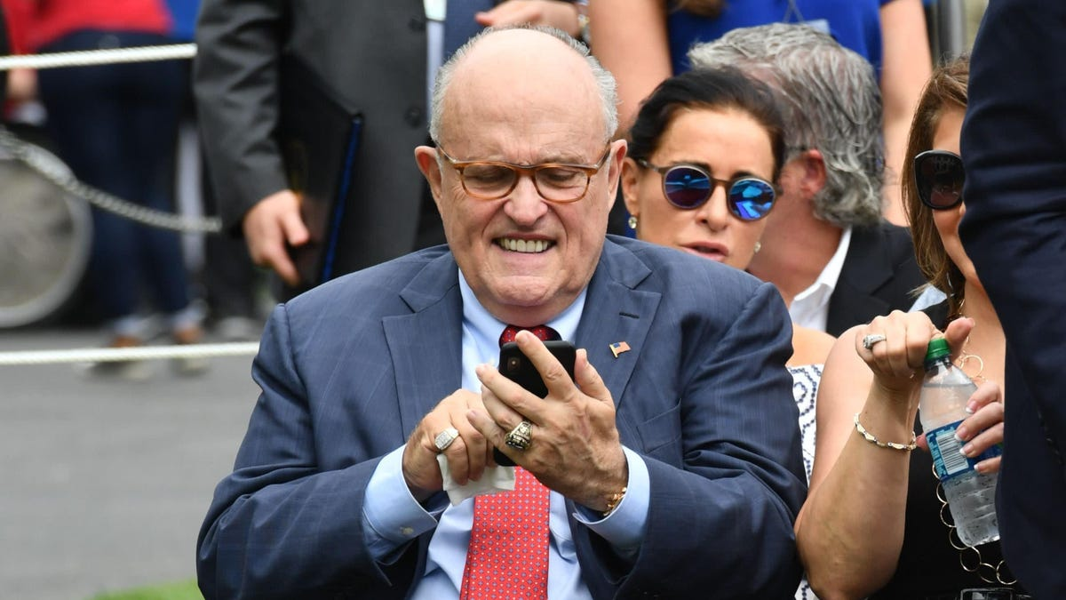 Rudy Giuliani Had to Ask an Apple Genius to Unlock His iPhone Right After Trump Named Him Head of the Cyber