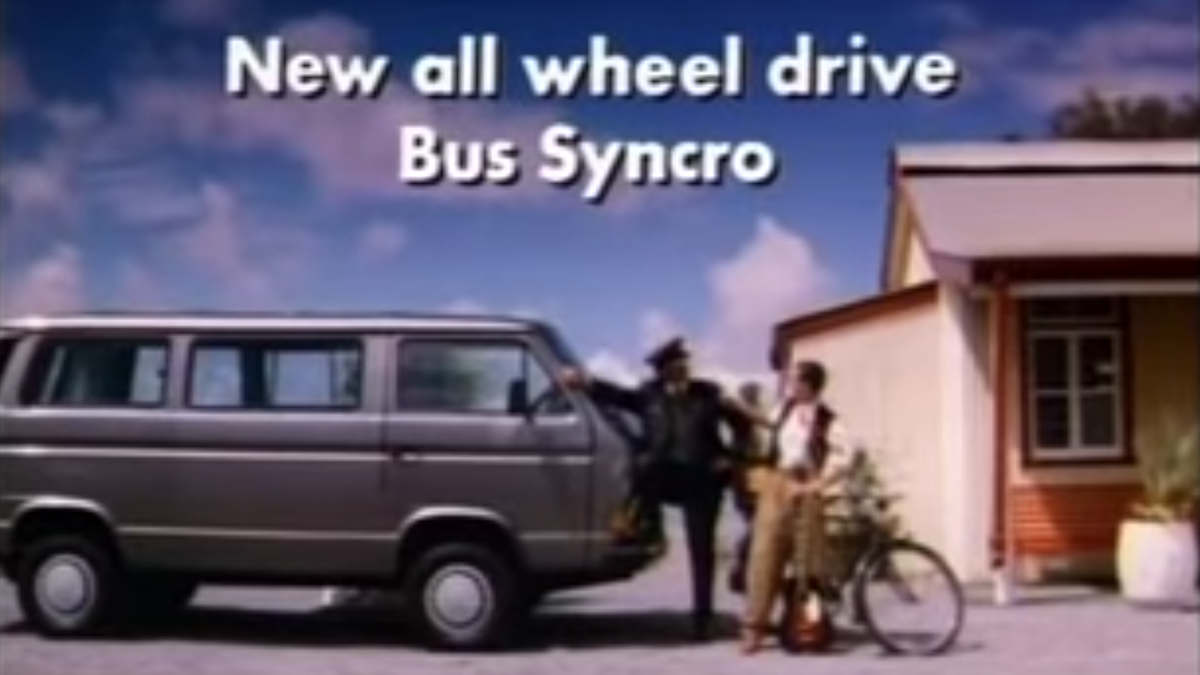 A Volkswagen T3 Syncro Is What You Need To Stop The Bike