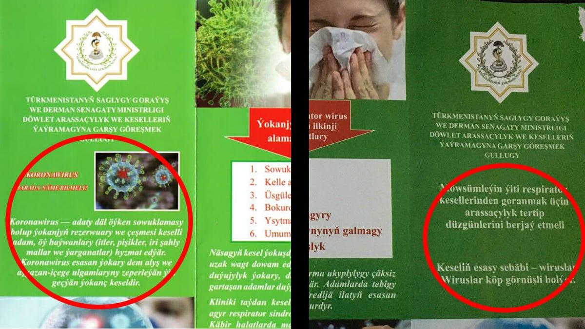 """Turkmenistán combate la pandemia prohibiendo la palabra """"coronavirus"""""""