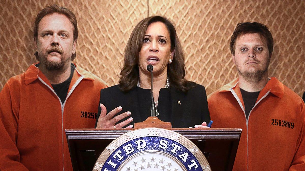 Kamala Harris Assembles Campaign Staff Of Unpaid California Prison Laborers