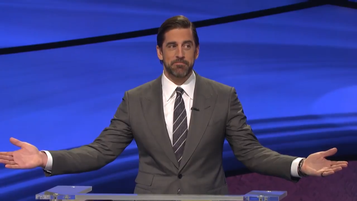 What is, 'Aaron Rodgers is stunned you whiffed on this Jeopardy! question?'