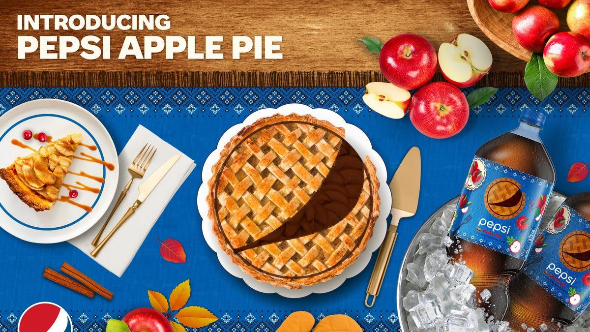 Presenting Pepsi Apple Pie, a caffeinated dessert you can slurp through a straw