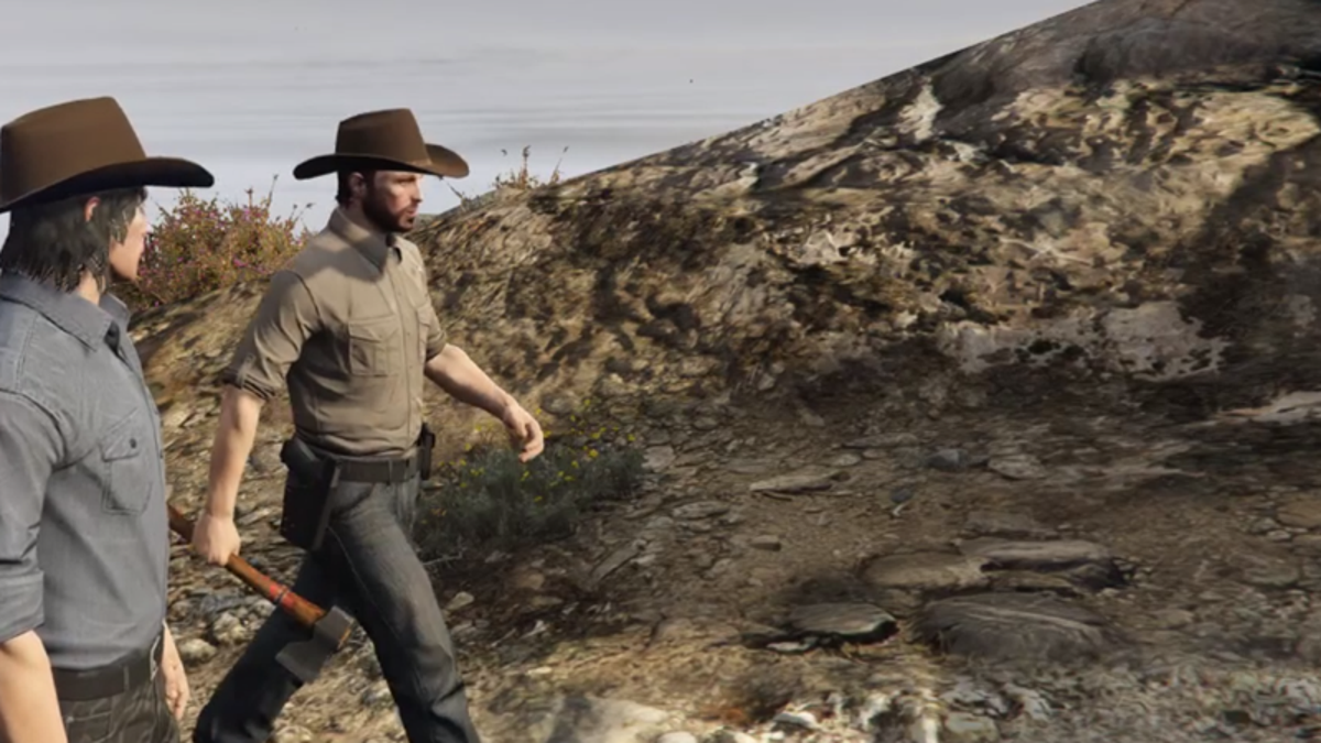 Watch Chandler Riggs Bring The Walking Dead's Carl Back to Life...in Grand Theft Auto V?