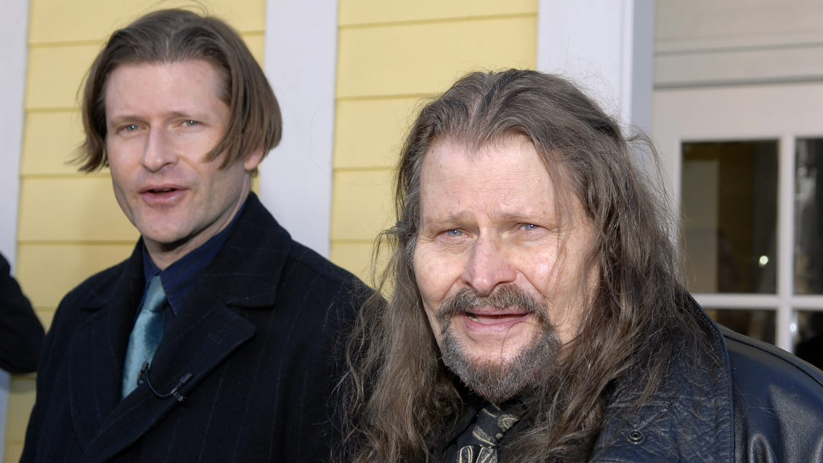 We can assure you, this is a real picture of Crispin Glover and his dad