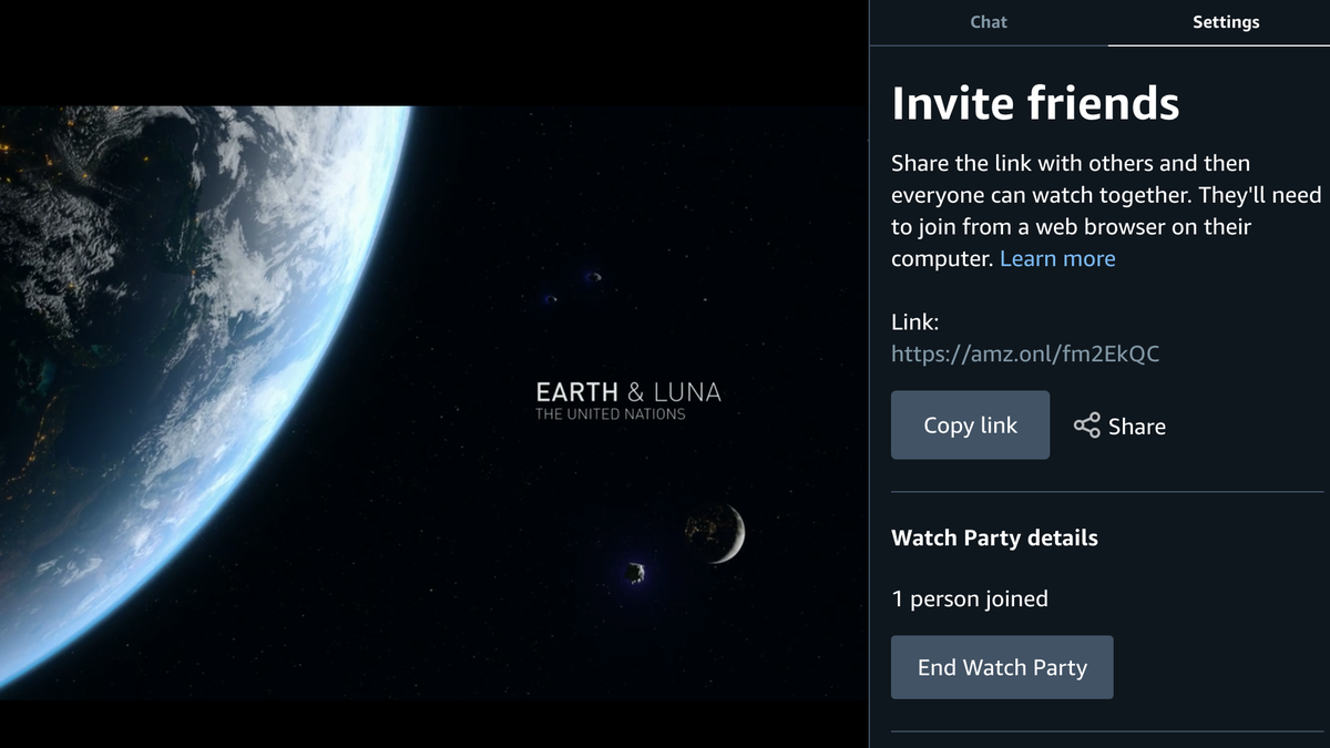 Amazon Prime Adds Watch Party for Co-Viewing With Up to 100 Friends thumbnail