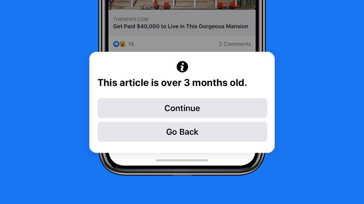 Facebook Will Finally Tell Your Aunt That Article Is From 3 Months Ago