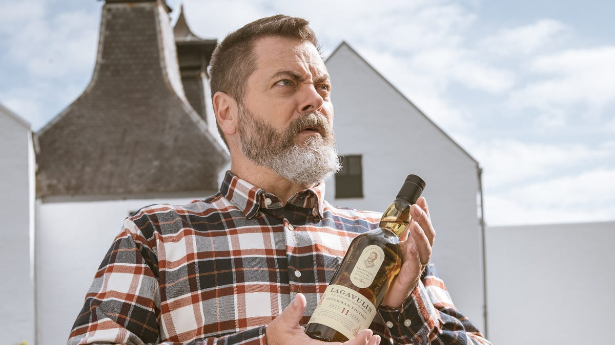 Nick Offerman gets his own edition of Lagavulin, ascends the pyramid of greatness
