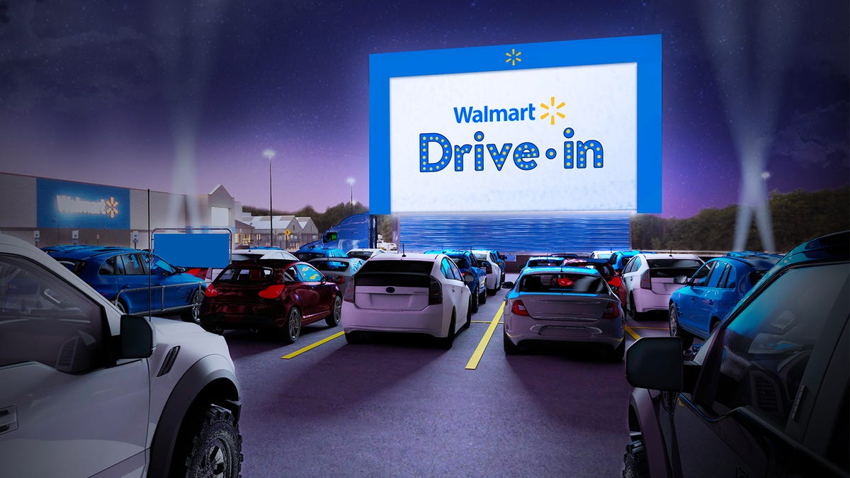 Walmart to Turn Parking Lots into Makeshift Drive-in Theaters This Summer