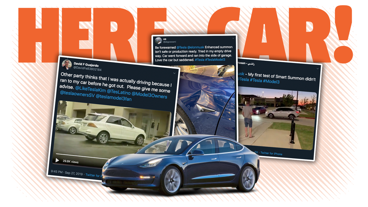 People Using Tesla's New Smart Summon Feature Are Already Running Into Trouble And It's Hard To Be Shocked