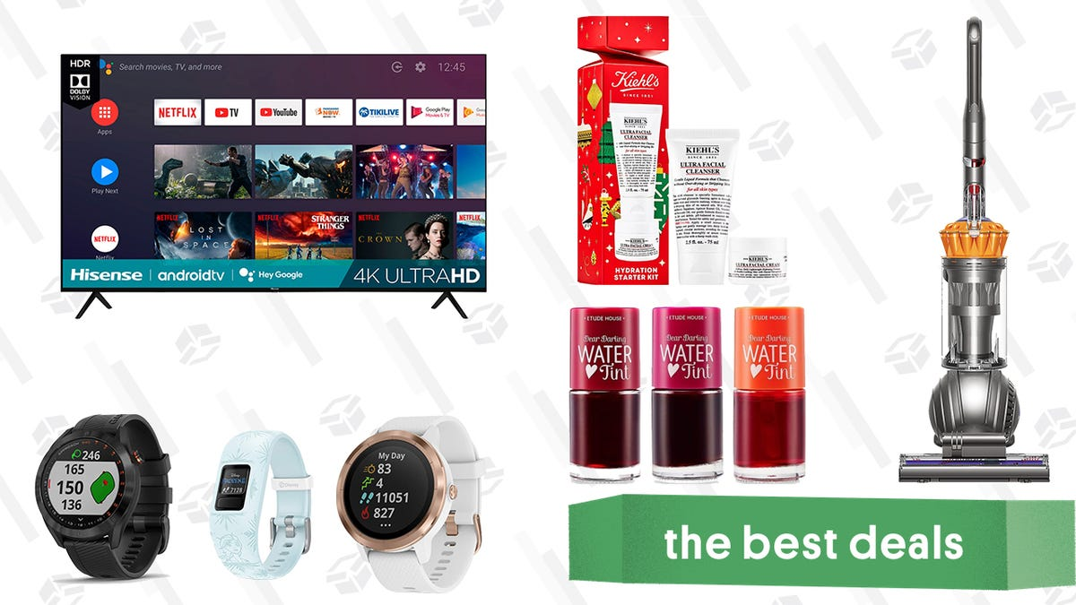 Monday's Best Deals: 70-inch Hisense Android TV, Garmin GPS Devices, Kiehl's Ultra Skincare Duo, Etude House Water Tint, and More